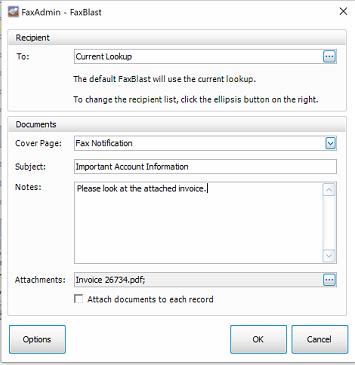 Fax multiple attachments